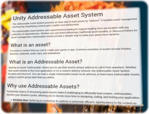【Unity】Addressable Asset System 公式マニュアルの和訳 Part4